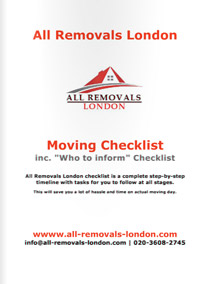 Moving Checklist by All Removals London